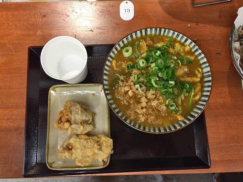 kichijoji food to eat at ibuki udon curry udon with chicken tempura