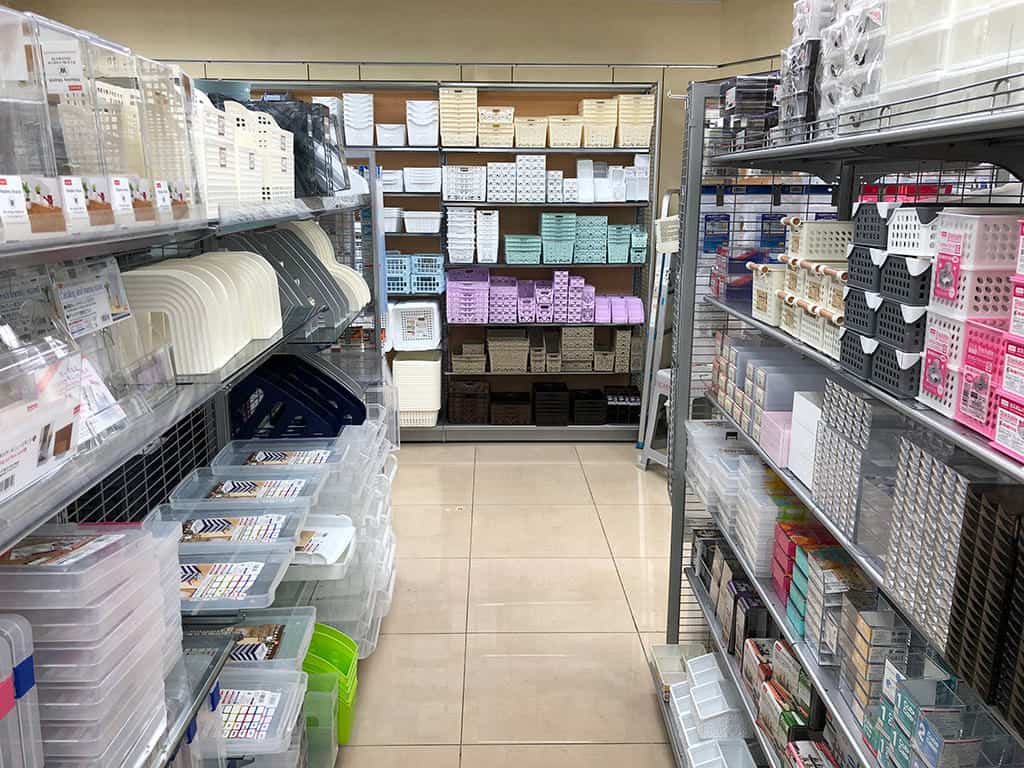 daiso organizer box aisle what to buy in japan