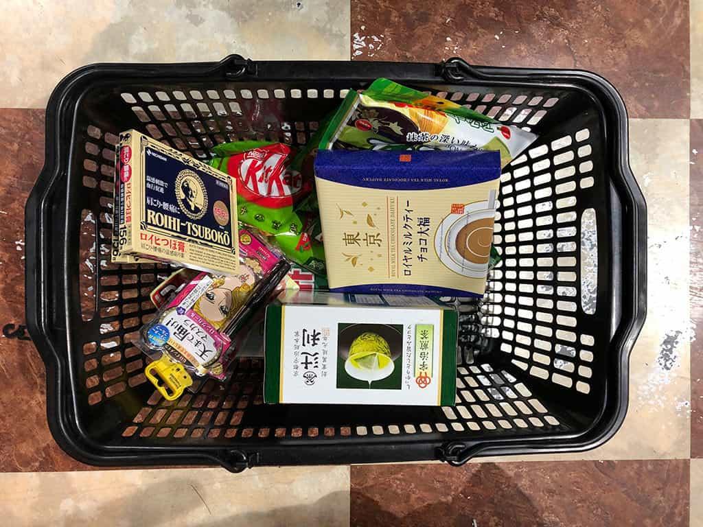 what to buy in japan at don quijote shopping basket