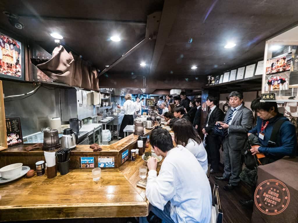 fuunji ramen shop interior shinjuku tokyo