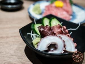 iseya yakitori kichijoji octopus sashimi dish food tour