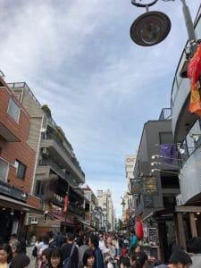trendy street in kichijoji