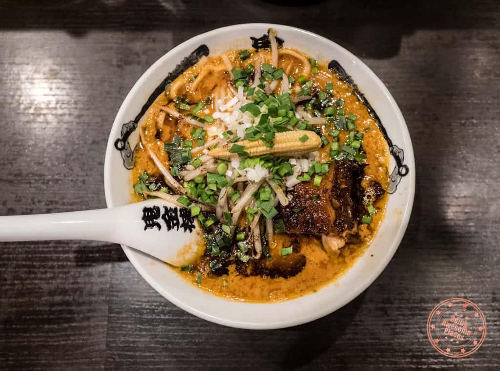 kikanbo spicy miso tonkotsu ramen in tokyo