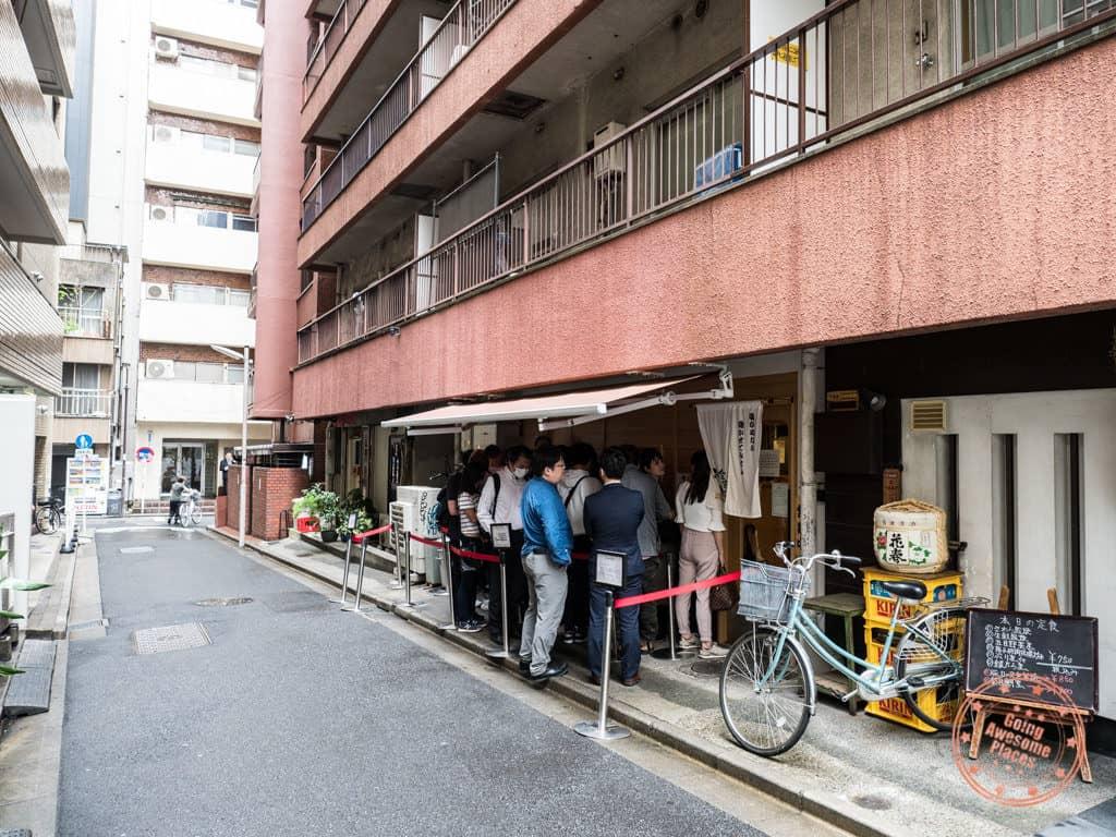 konjiki hototgisu shinjuku location tokyo exterior storefront ramen tour
