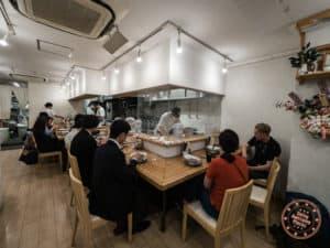 shichisai hatchobori ramen shop interior