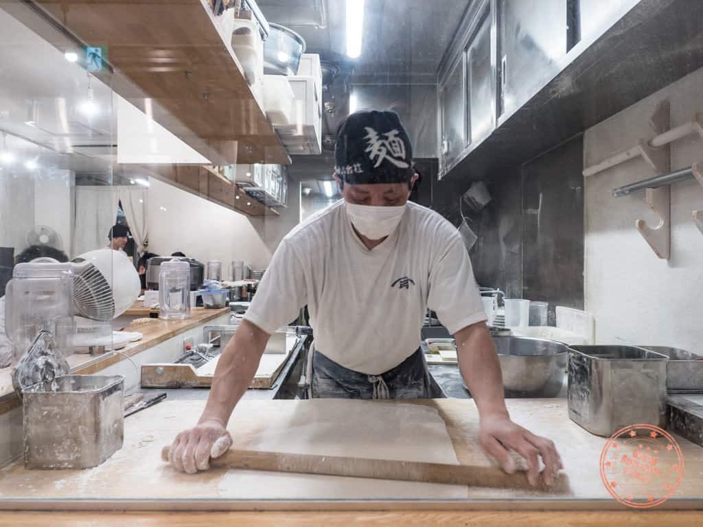 shichisai noodle making master hatchobori ramen