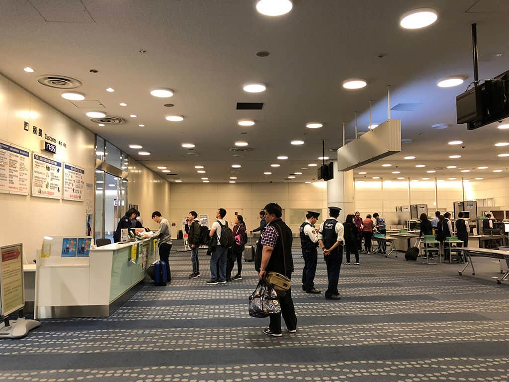 drop off tax free receipts at haneda airport japan