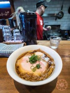 toybox shoyu ramen with pure chicken soup base