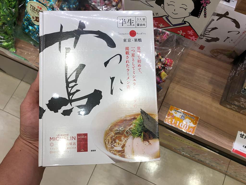tsuta instant noodles duty free packaging in japan