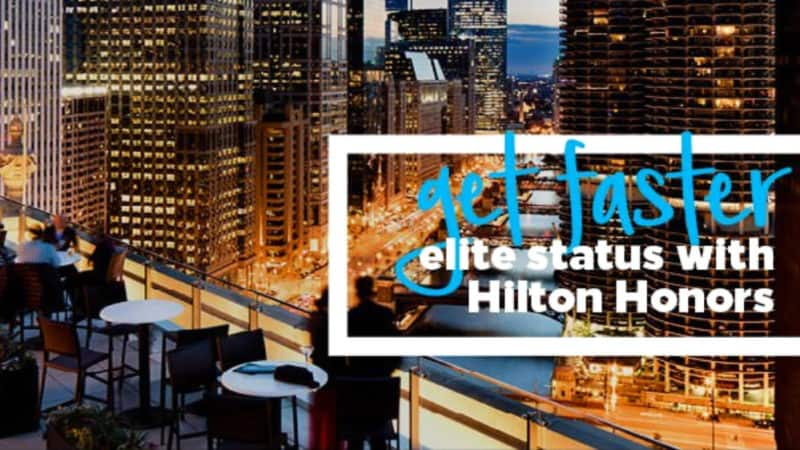 hilton honors gold fast track promotion banner