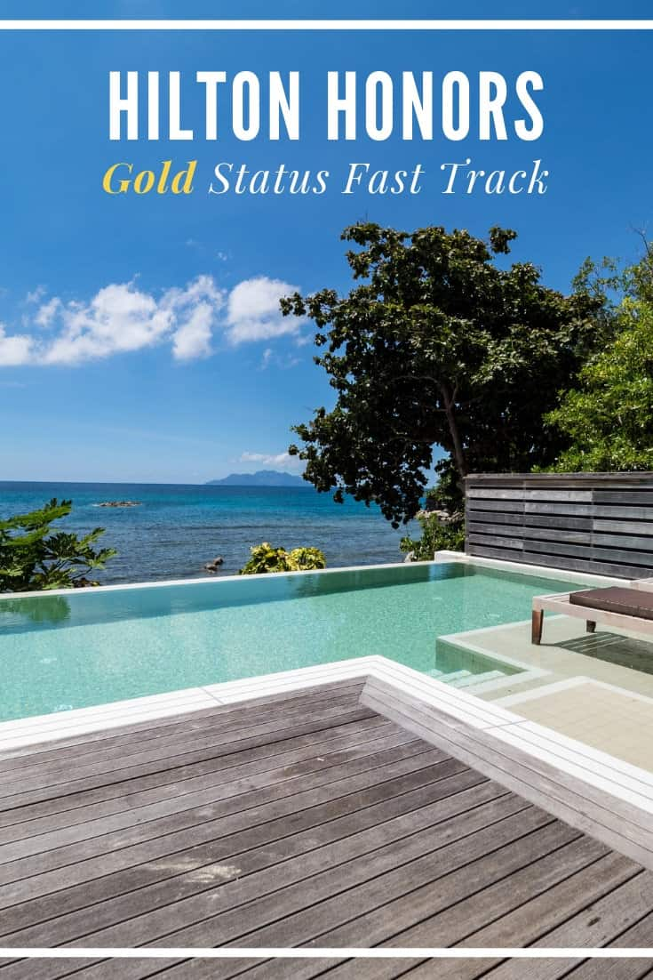 Don\'t have elite status and looking for a quick way to gold? Here are the details of the Hilton Honors Gold fast track in 2019 and how to keep it until 2021. #hiltonhonors #hiltonhotels #travelhacking
