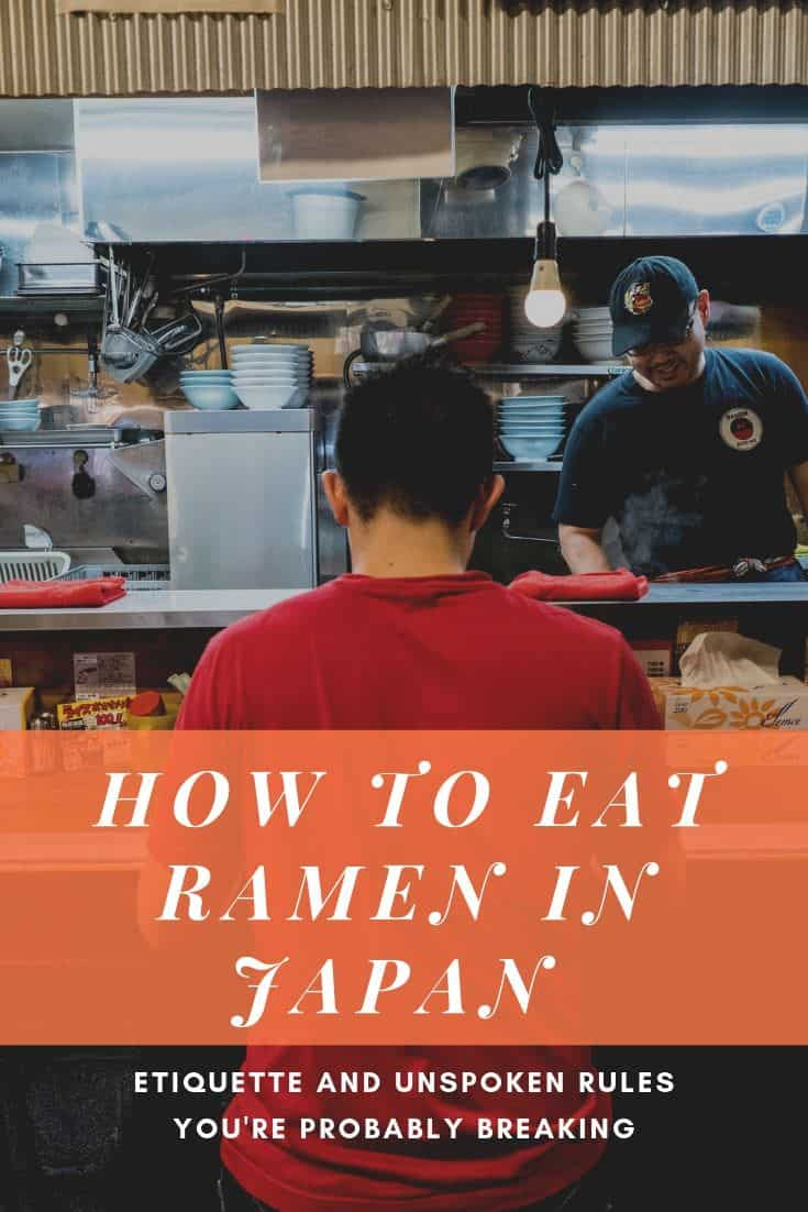 You\'re doing it all wrong! Learn what the proper way is to eat ramen in Japan. There are a lot of unspoken rules and etiquette that goes unspoken but I\'m going to lay it all out in this guide. #ramen #visitjapan #japan