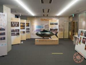 inside the pr center at toyosu