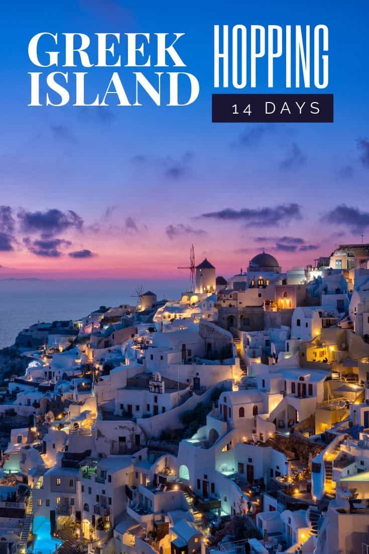 Planning a vacation to the Greek Islands can be pretty overwhelming. There are so many islands to choose from. Which ones do you pick? How many can you fit in? How many days each? Where\'s the best place to stay? What should I see? Where should I eat? These are the type of questions I answer in this comprehensive Greek Island Hopping 14 day itinerary. #greekislands #westerncyclades #islandhopping #greece