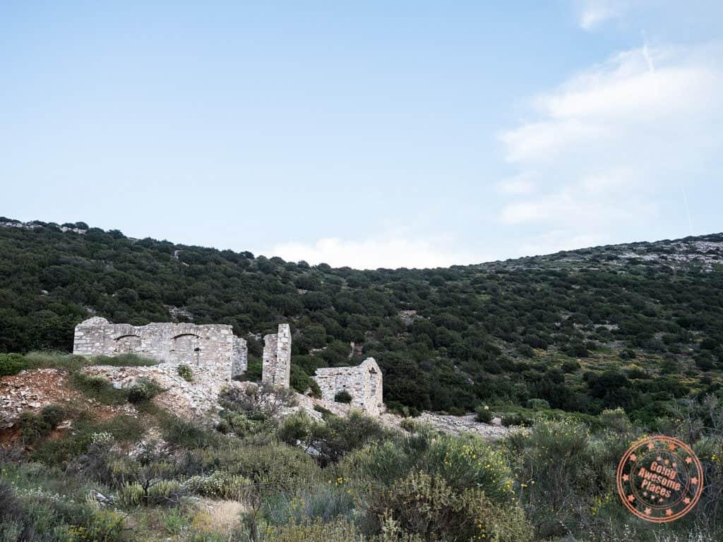 ancient marble quarry in paros