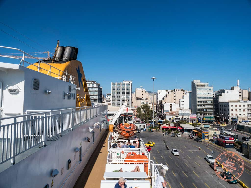 blue star ferry in piraeus athens in paros 2 day itinerary