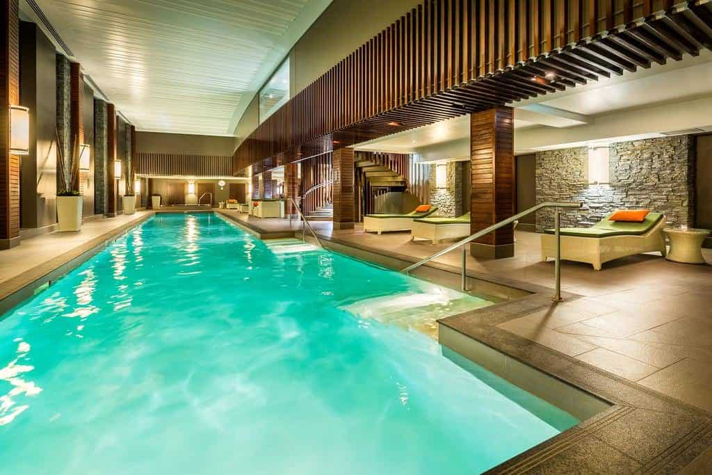 hilton queenstown resort and spa heated pool