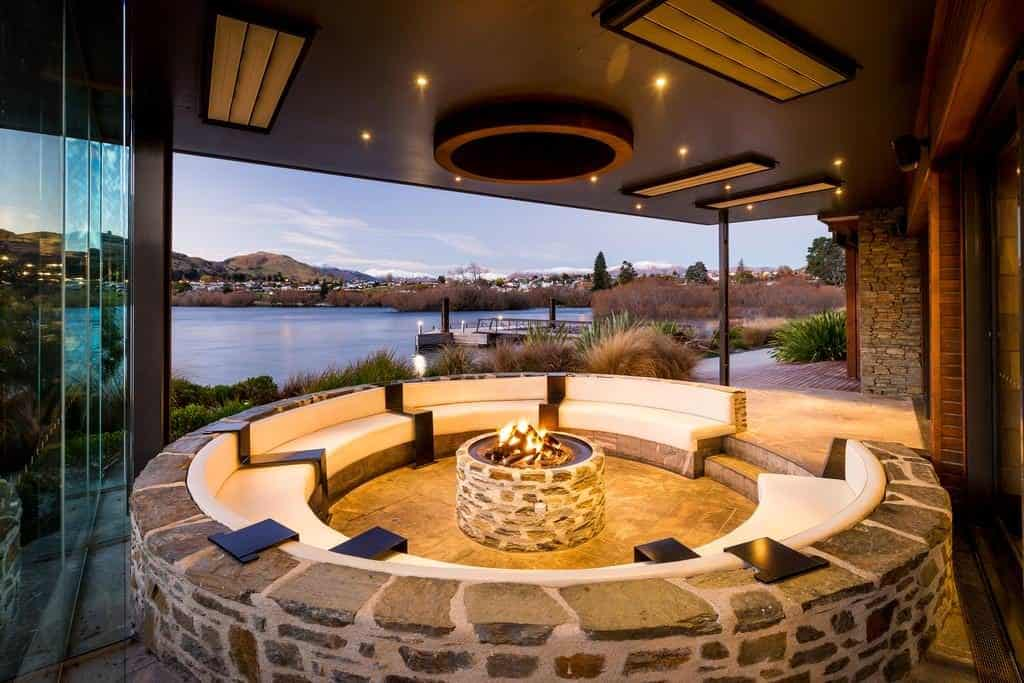 hilton queenstown resort and spa firepit