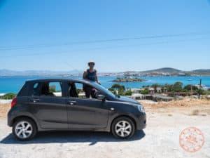 car rental in paros with company karent