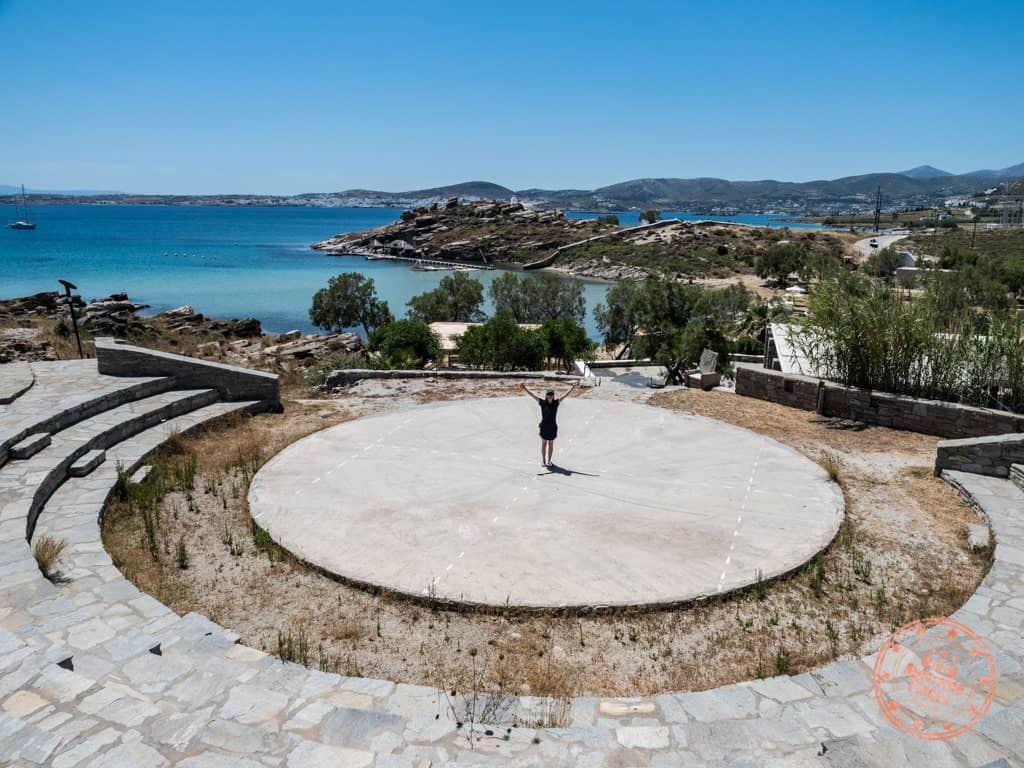 paros park amphitheater sight