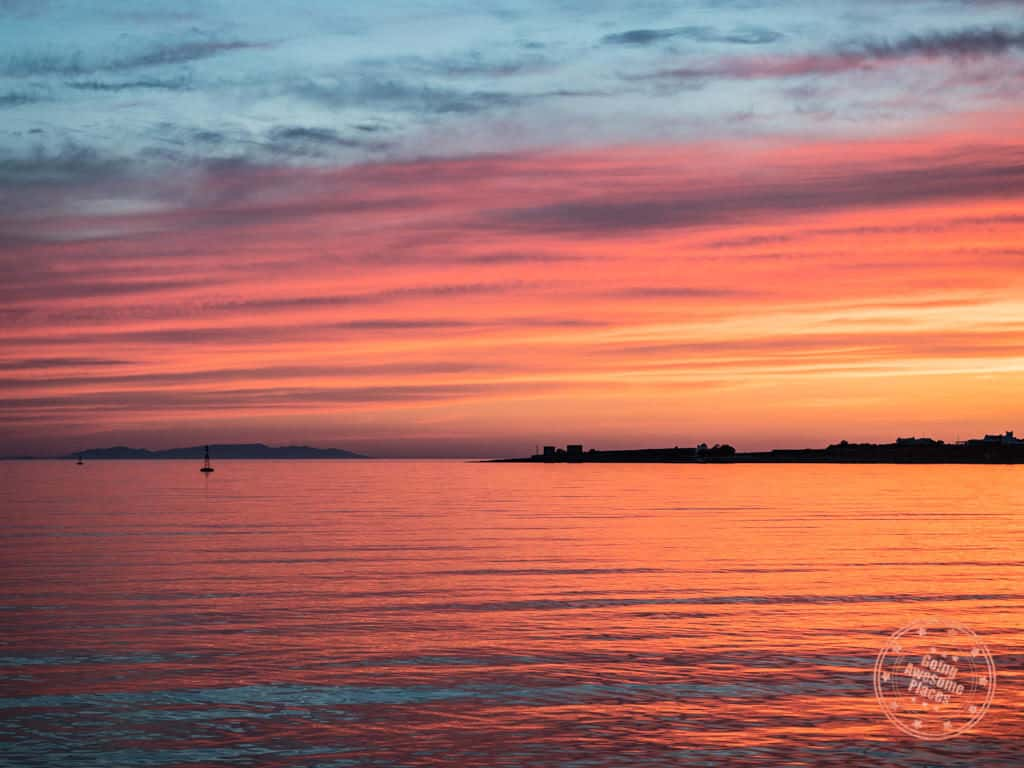 perfect paros sunset