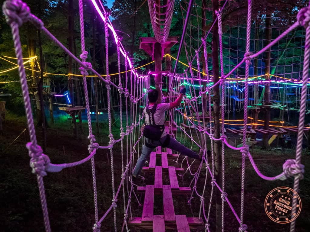 treerunner adventure park glow nights grand rapids