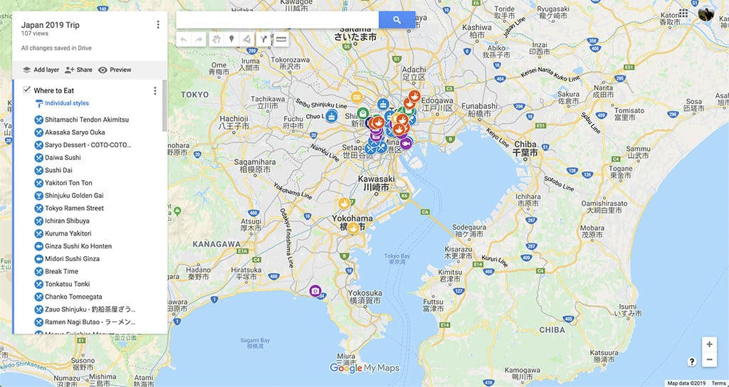 japan trip google my maps custom how to migrate to maps me