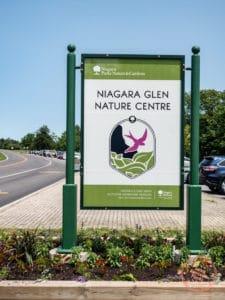 niagara glen nature centre sign