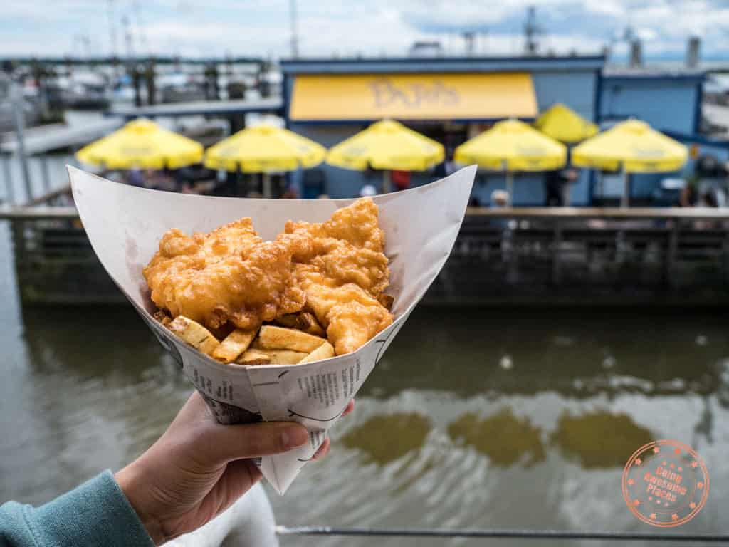 pajos fish and chips cone