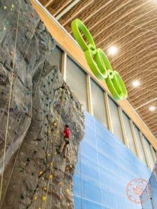richmond olympic oval climbing wall