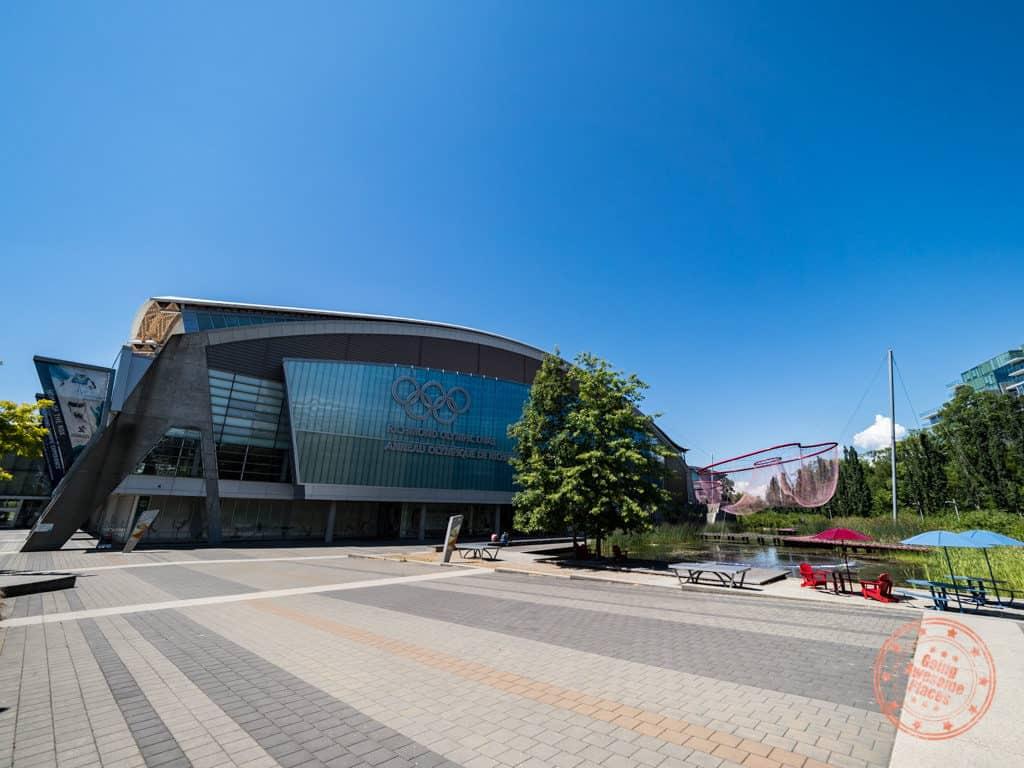 richmond olympic oval exterior facade