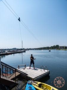 getting ready to go wakeboarding in port colborne