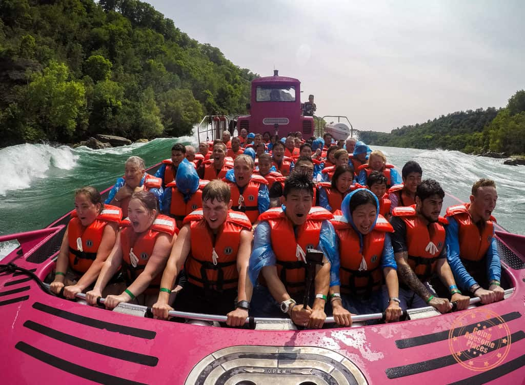 whirlpool jet boat point of view of the rapids