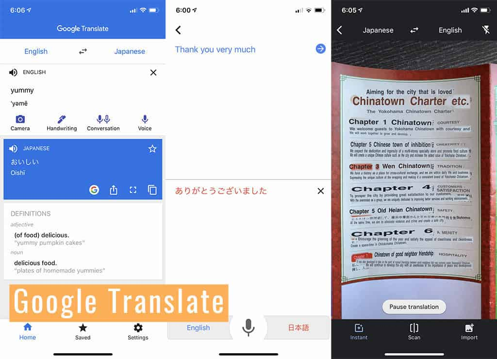 google translate japan travel app to download