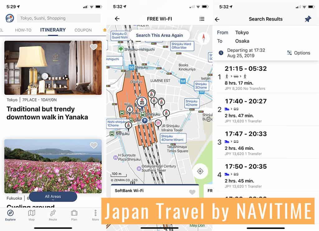 japan travel by navitime navigation app
