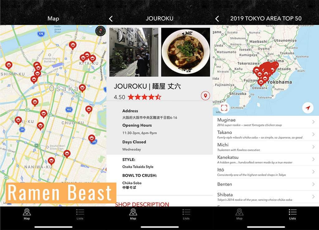 ramen beast food japan travel app
