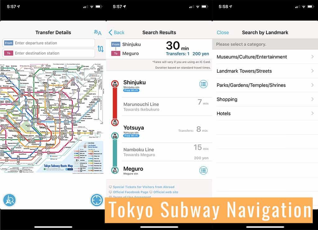 tokyo subway navigation must download metro app