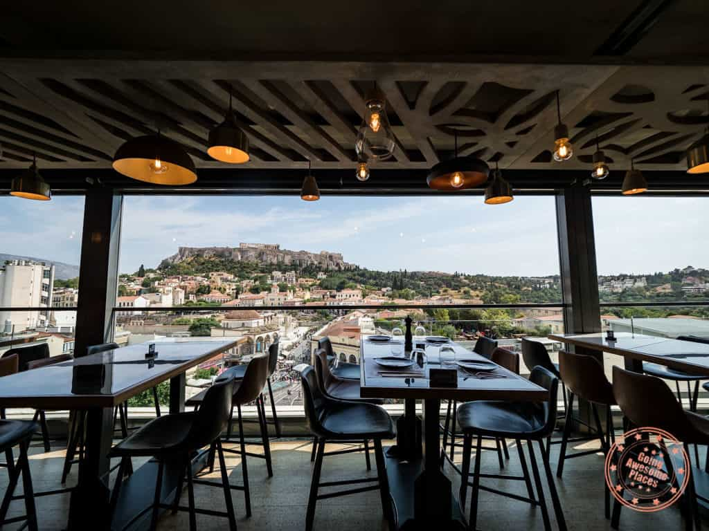 a for athens rooftop bar indoor seating
