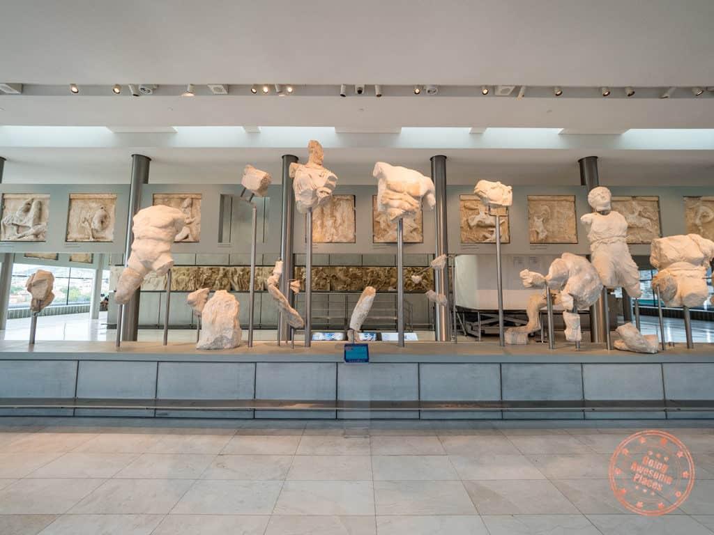 acropolis museum in athens pediment ruins