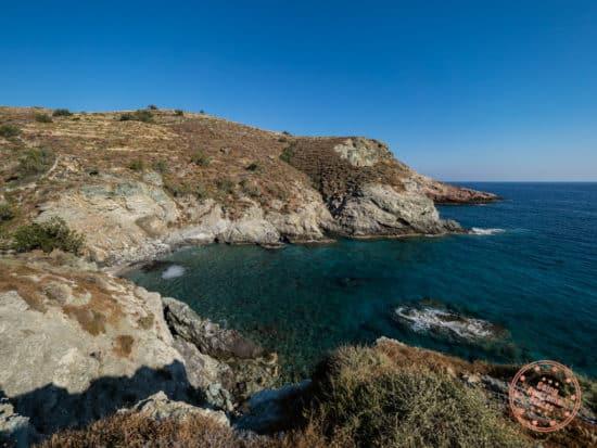 ambeli beach at sunset in folegandros greece