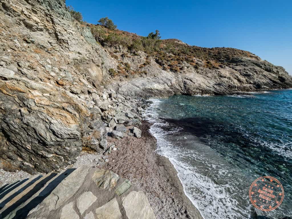 ambeli beach upclose in folegandros