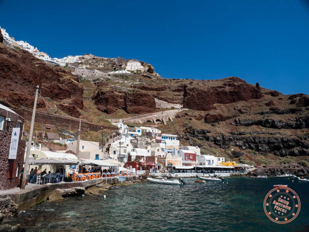 ammoudi bay landscape