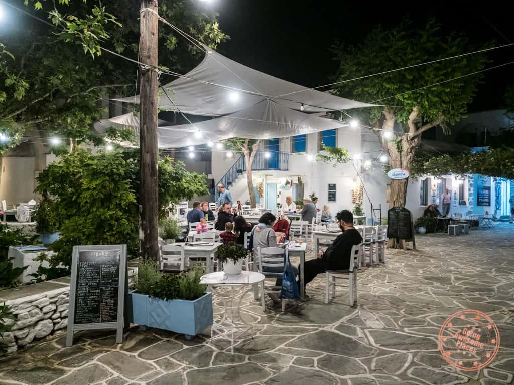 araxe restaurant chora folegandros evening