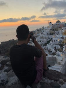 best spot for oia sunset photography