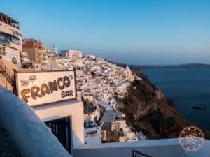 best sunset photography spot in fira santorini