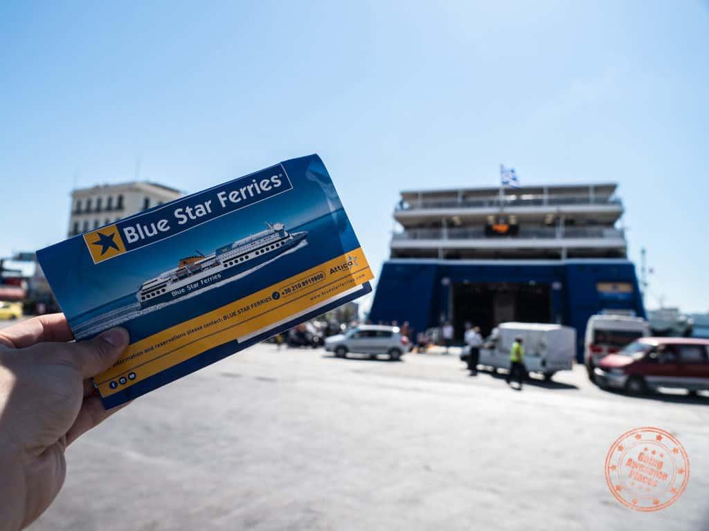 blue star ferry greece 2 week itinerary