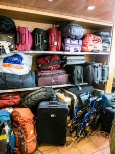 blue star ferry luggage storage situation