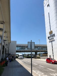 bus stop location for rafina port from athens airport