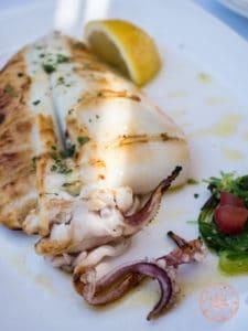 captain pipinos antiparos grilled squid