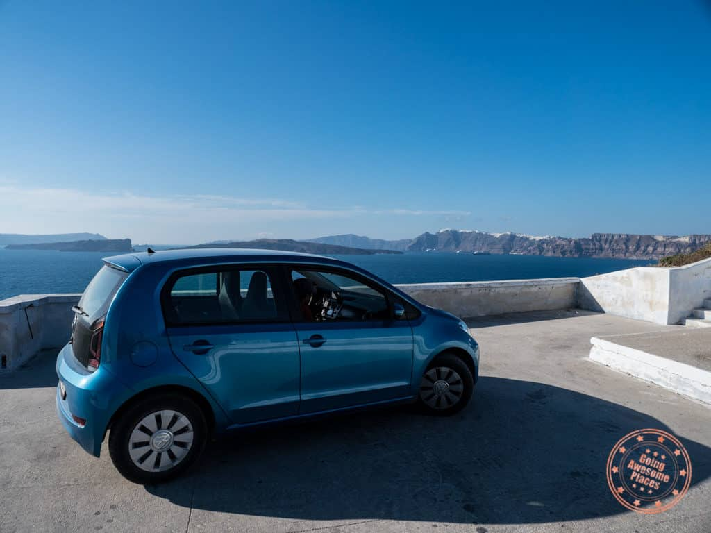 car rental in santorini greek islands travel guide